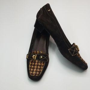 TALBOTS▪︎ Genuine Leather Loafers w/ herringbone